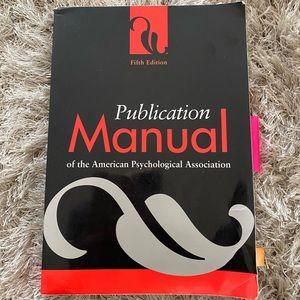 Book:  Publication Manual of the APA